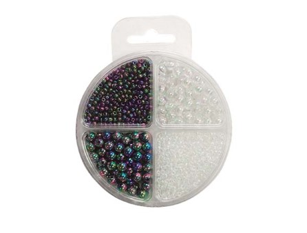 Bead Pack round pearl 4-8mm